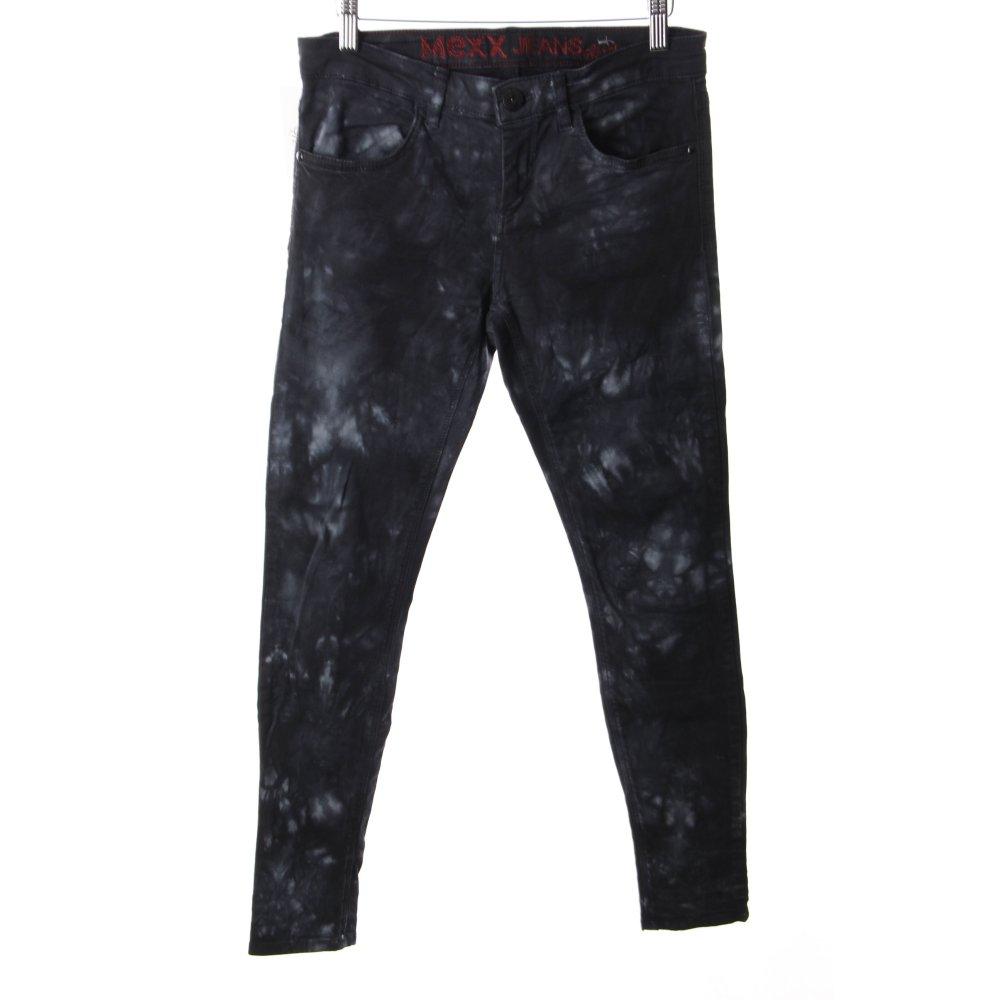 mexx skinny jeans black light blue biker look women s size. Black Bedroom Furniture Sets. Home Design Ideas