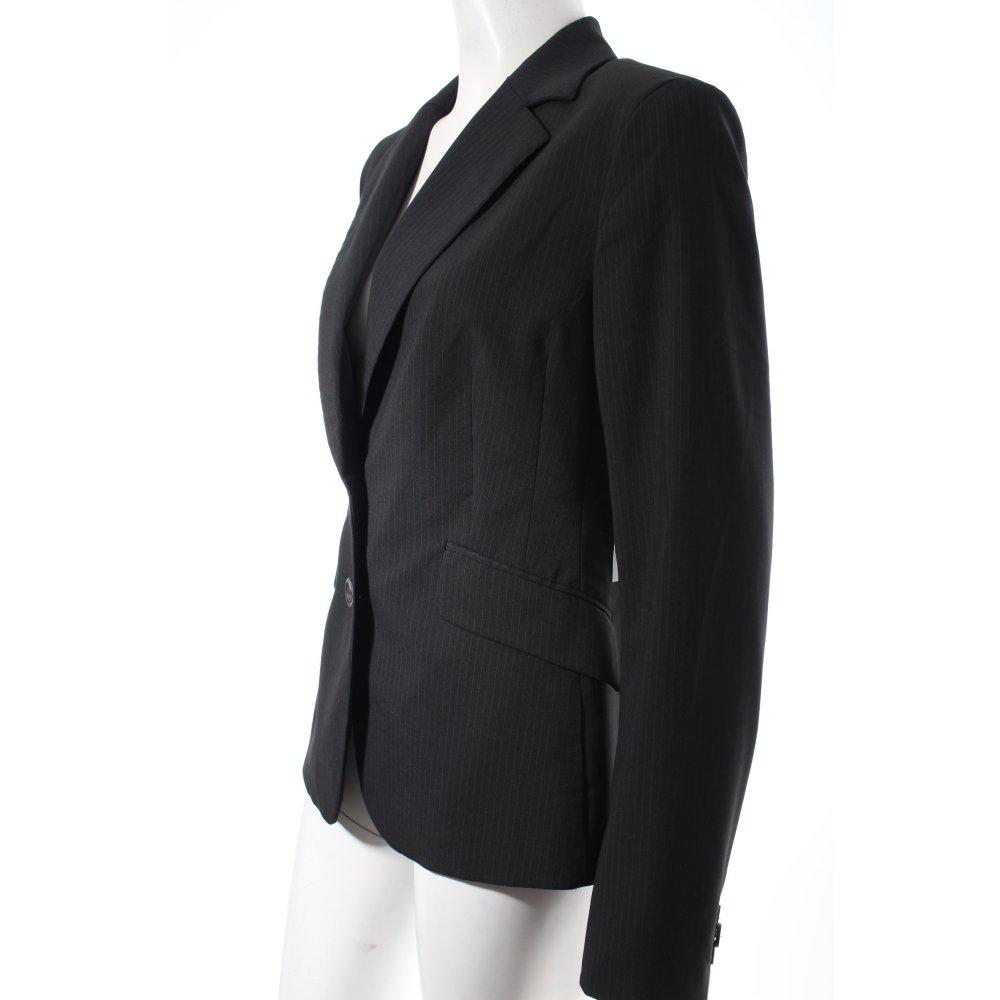 mexx smoking blazer schwarz wei nadelstreifen elegant. Black Bedroom Furniture Sets. Home Design Ideas