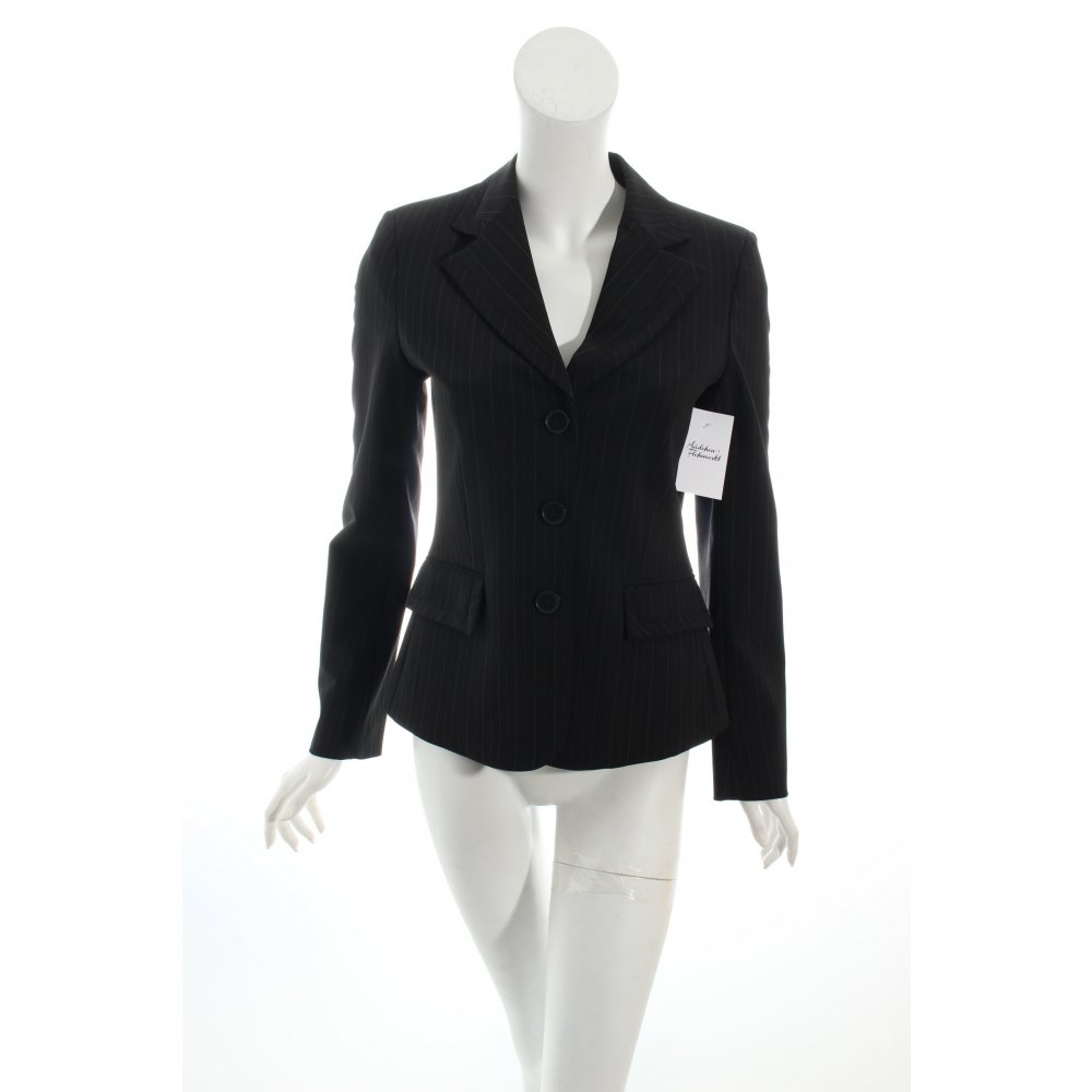 mexx smoking blazer schwarz wei nadelstreifen eleganz. Black Bedroom Furniture Sets. Home Design Ideas