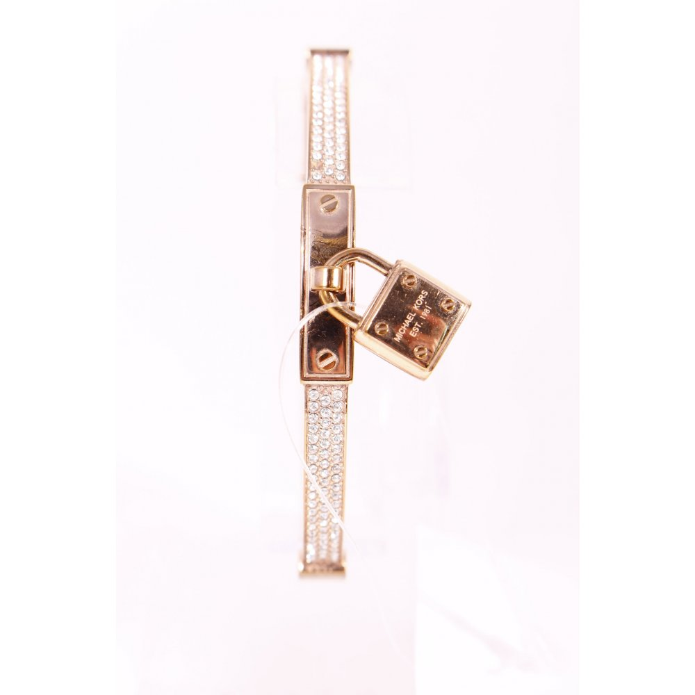 michael kors armreif pav padlock rose gold tone bracelet. Black Bedroom Furniture Sets. Home Design Ideas