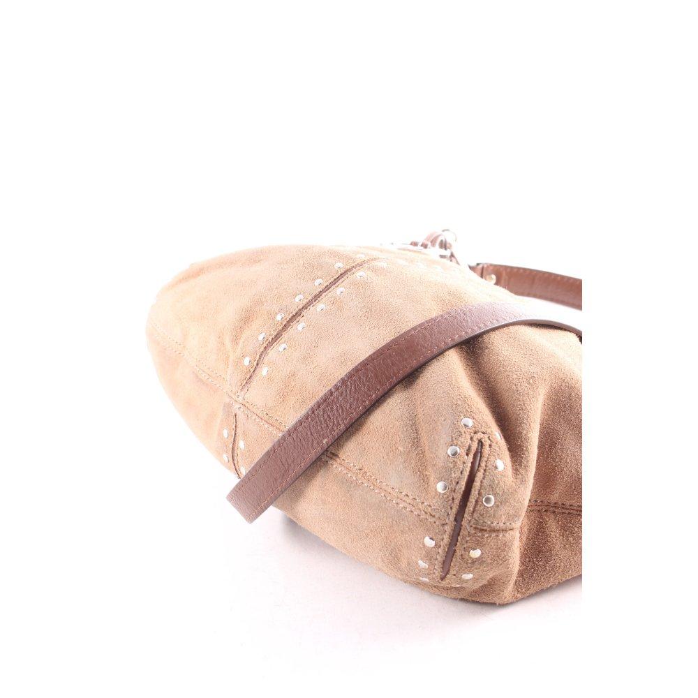 michael kors beuteltasche hellbraun boho look damen tasche bag pouch bag ebay. Black Bedroom Furniture Sets. Home Design Ideas