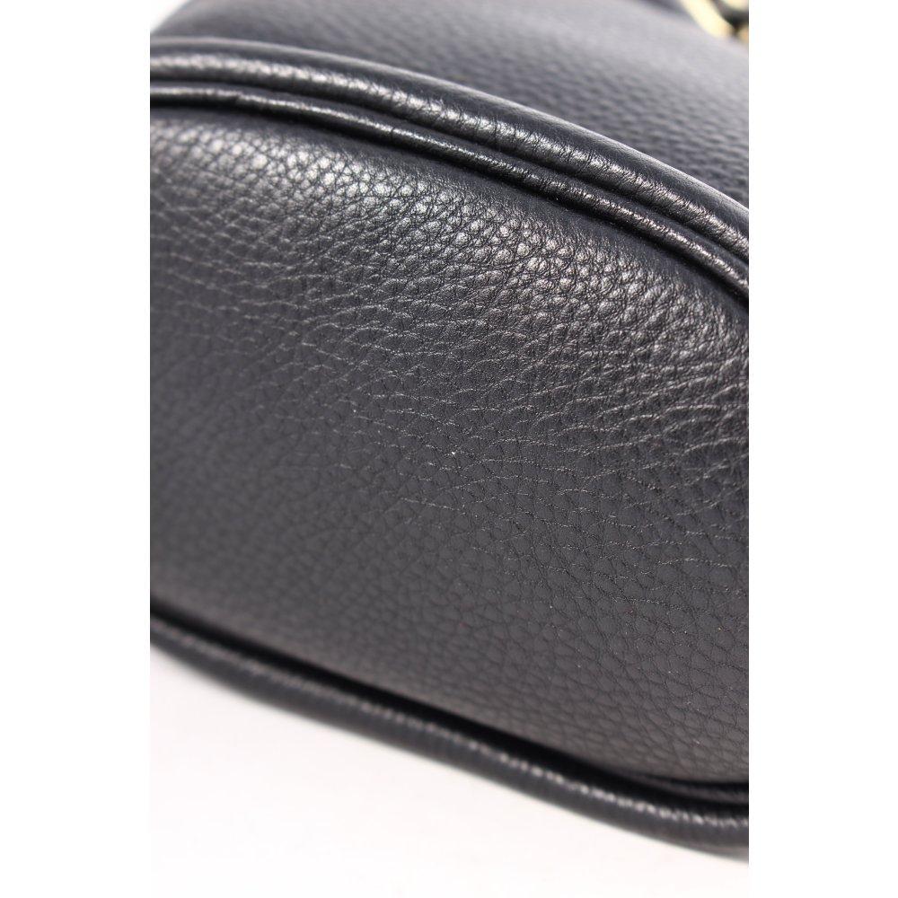 michael kors beuteltasche schwarz goldfarben street fashion look damen tasche. Black Bedroom Furniture Sets. Home Design Ideas