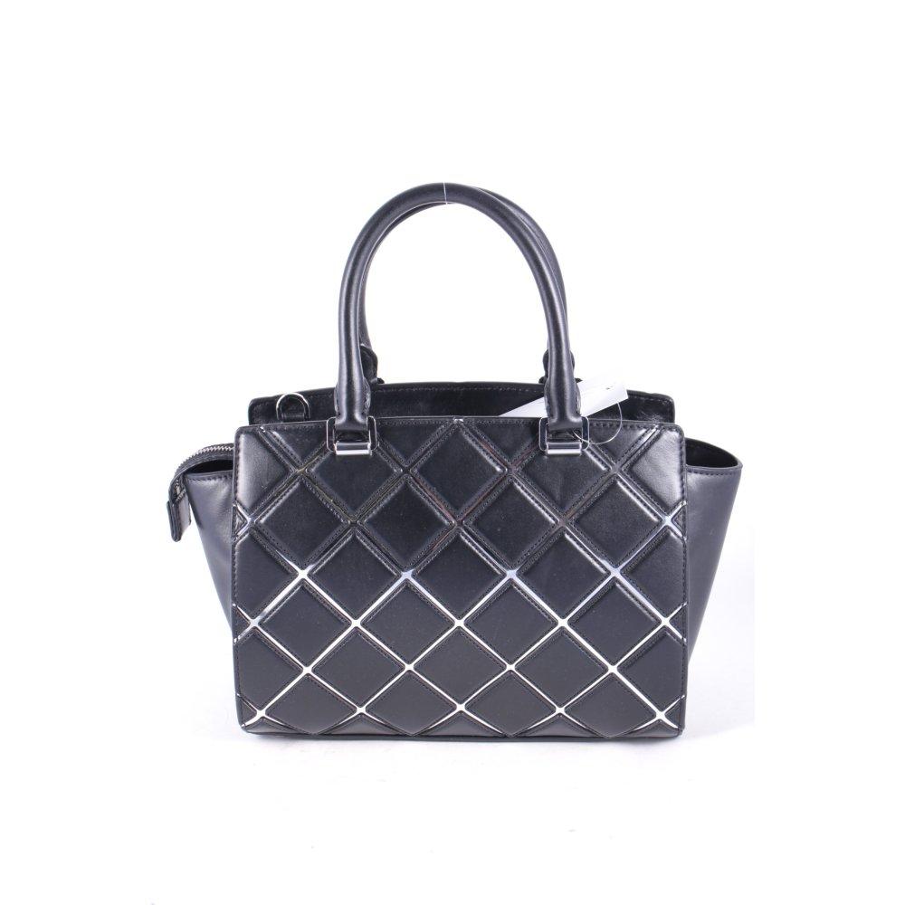 michael kors handtasche schwarz karomuster elegant damen tasche bag handbag ebay. Black Bedroom Furniture Sets. Home Design Ideas