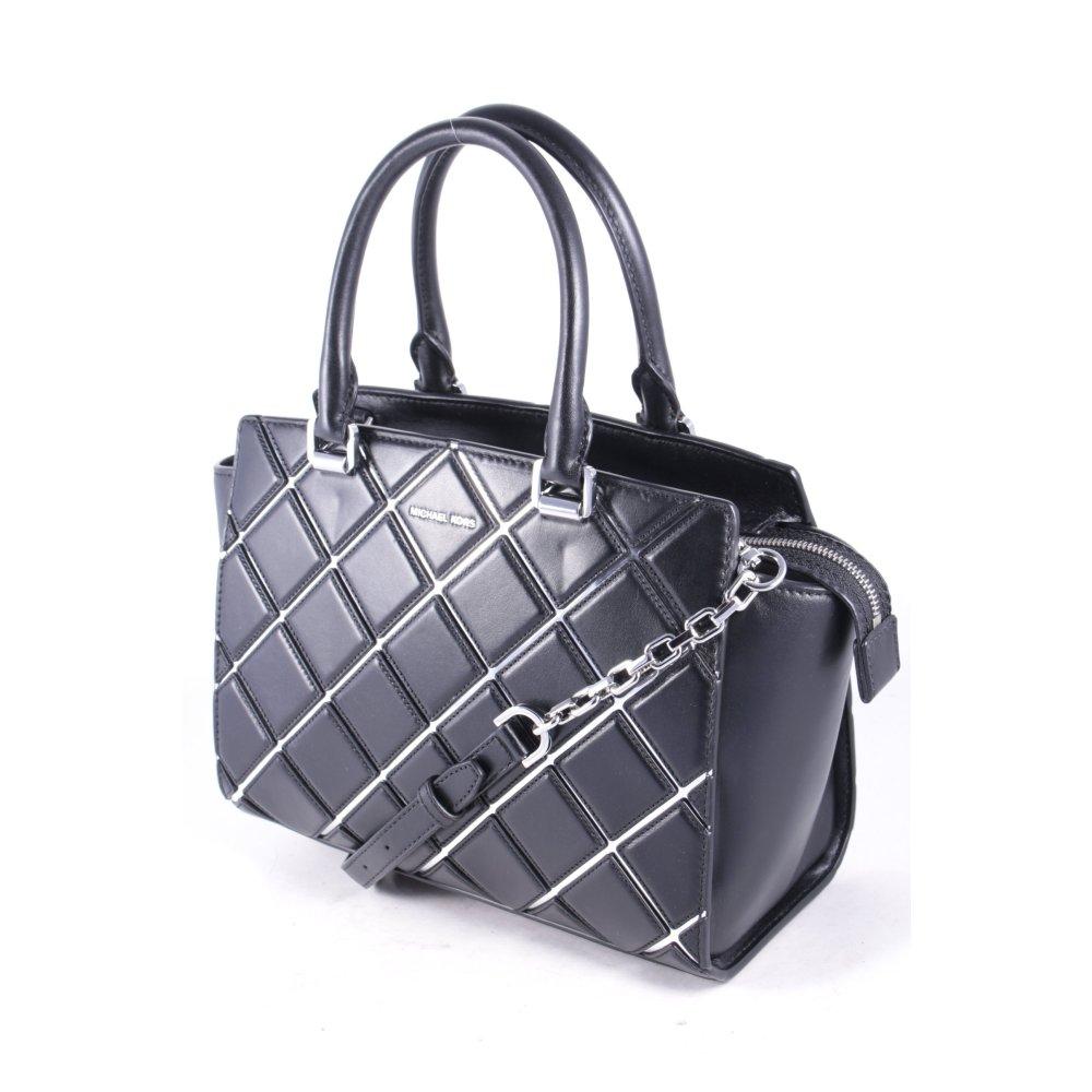 michael kors handtasche schwarz karomuster elegant damen tasche bag handbag. Black Bedroom Furniture Sets. Home Design Ideas
