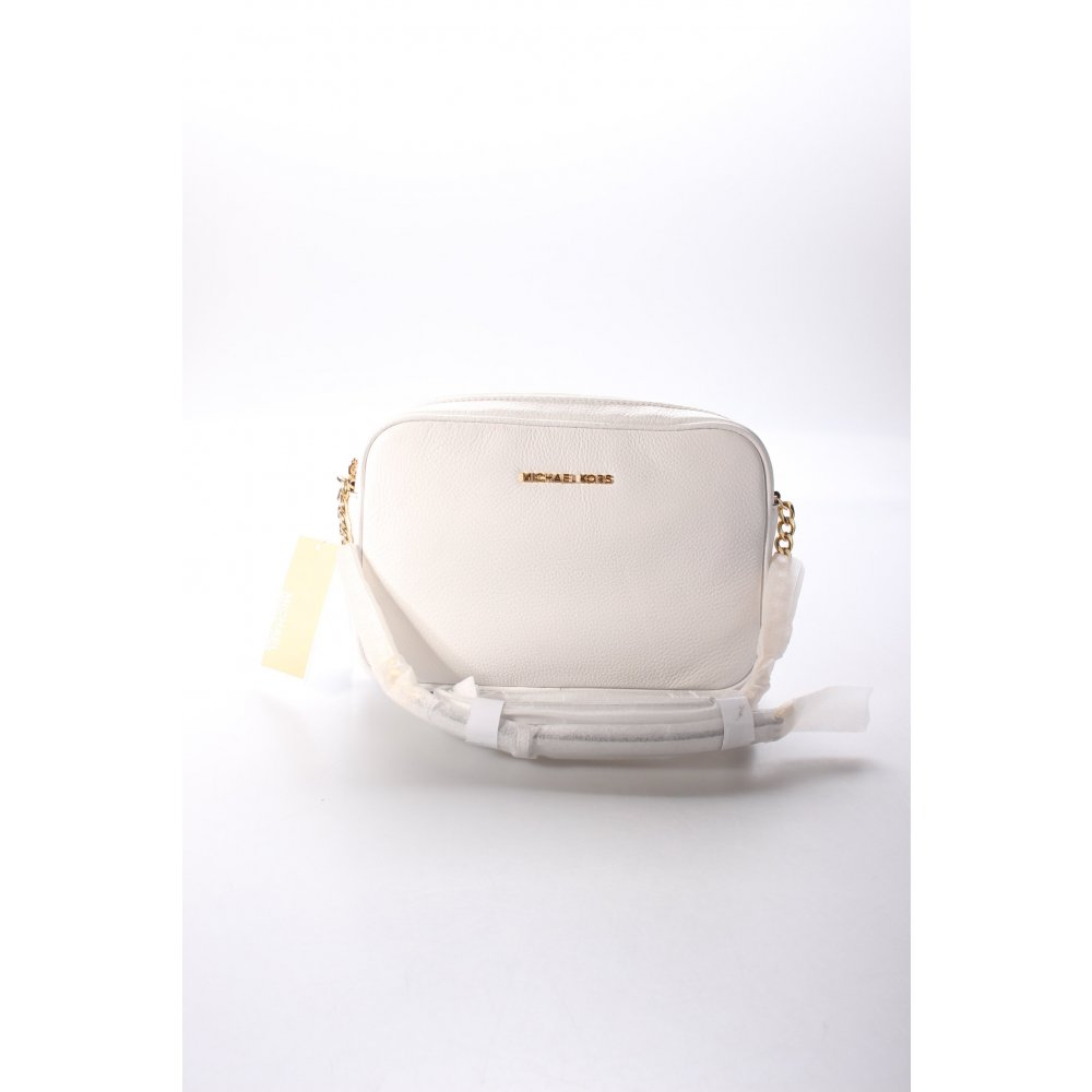 michael kors handtasche wei goldfarben klassischer stil damen wei tasche bag ebay. Black Bedroom Furniture Sets. Home Design Ideas