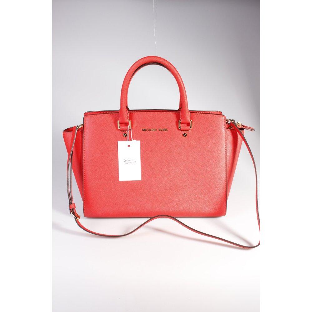 michael kors henkeltasche rot damen tasche bag carry bag. Black Bedroom Furniture Sets. Home Design Ideas