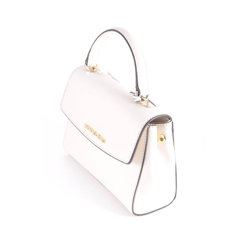 Michael kors mini sac ava xs dames blanc cuir ebay - Sac blanc michael kors ...