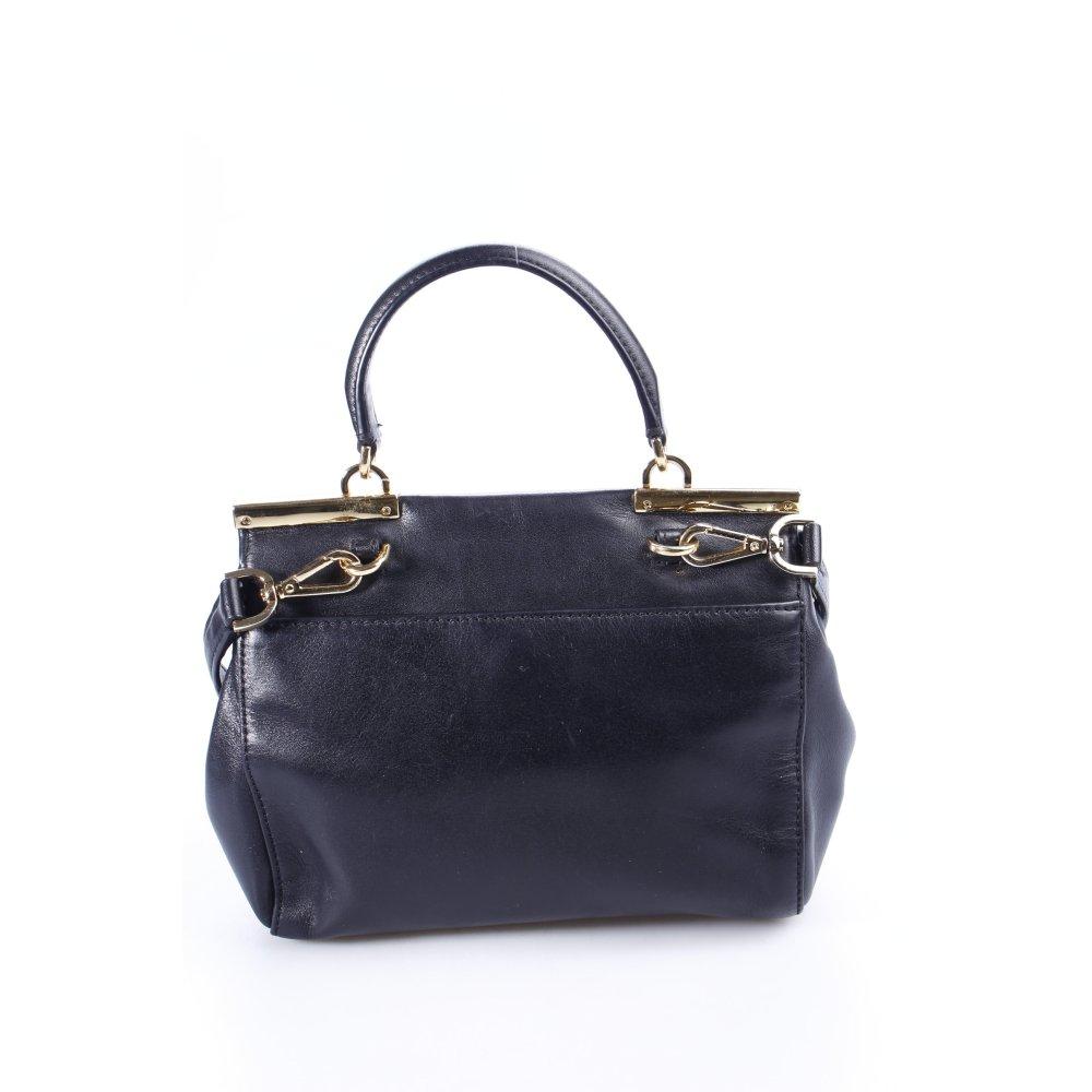 Michael kors satchel schwarz goldfarben klassischer stil for Klassischer stil