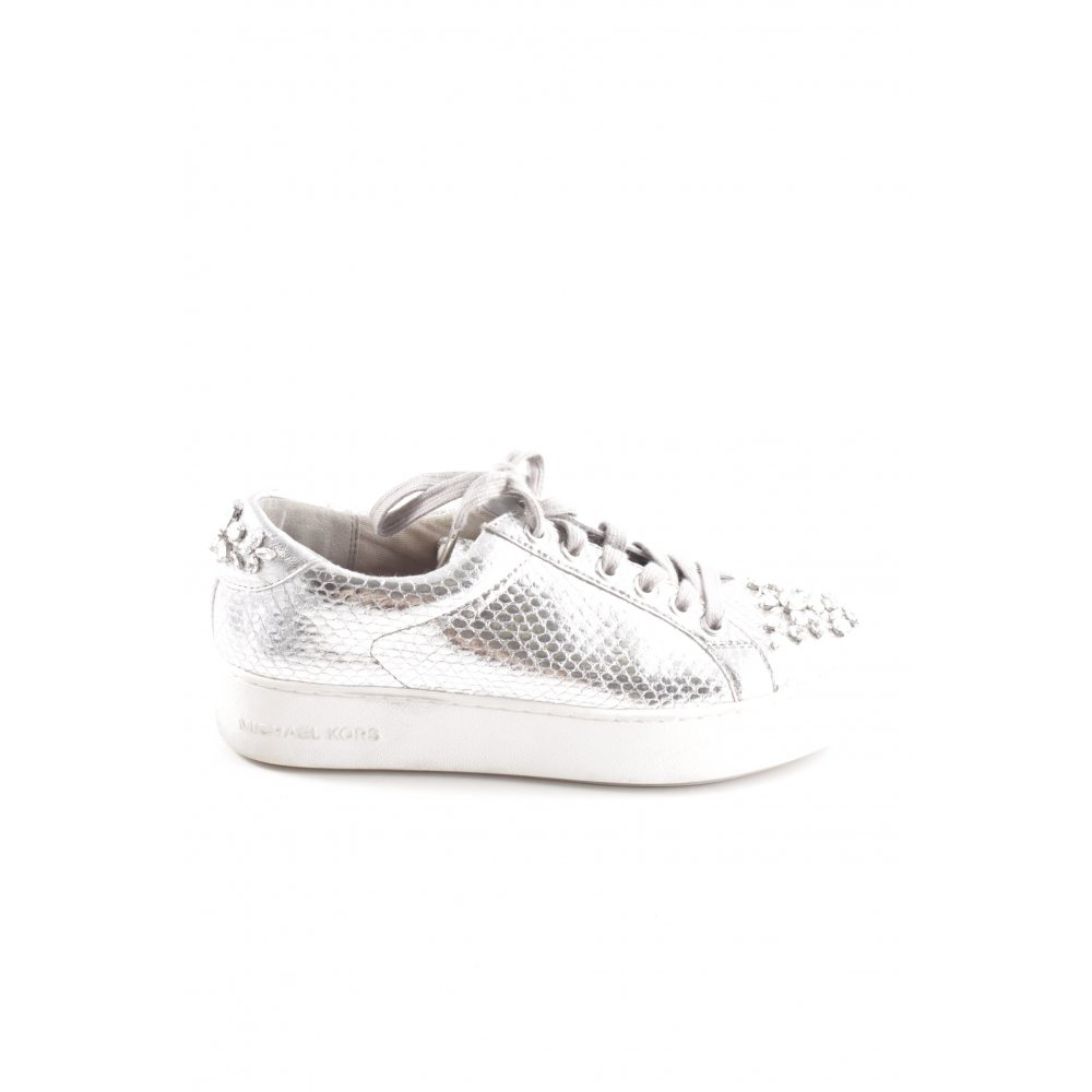 Michael Kors Poppy soft pink leather sneakers trainers
