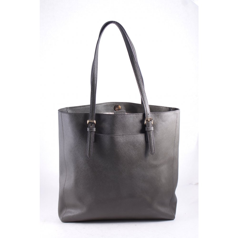 michael kors shopper anthracite minimalist style women s bag ebay. Black Bedroom Furniture Sets. Home Design Ideas