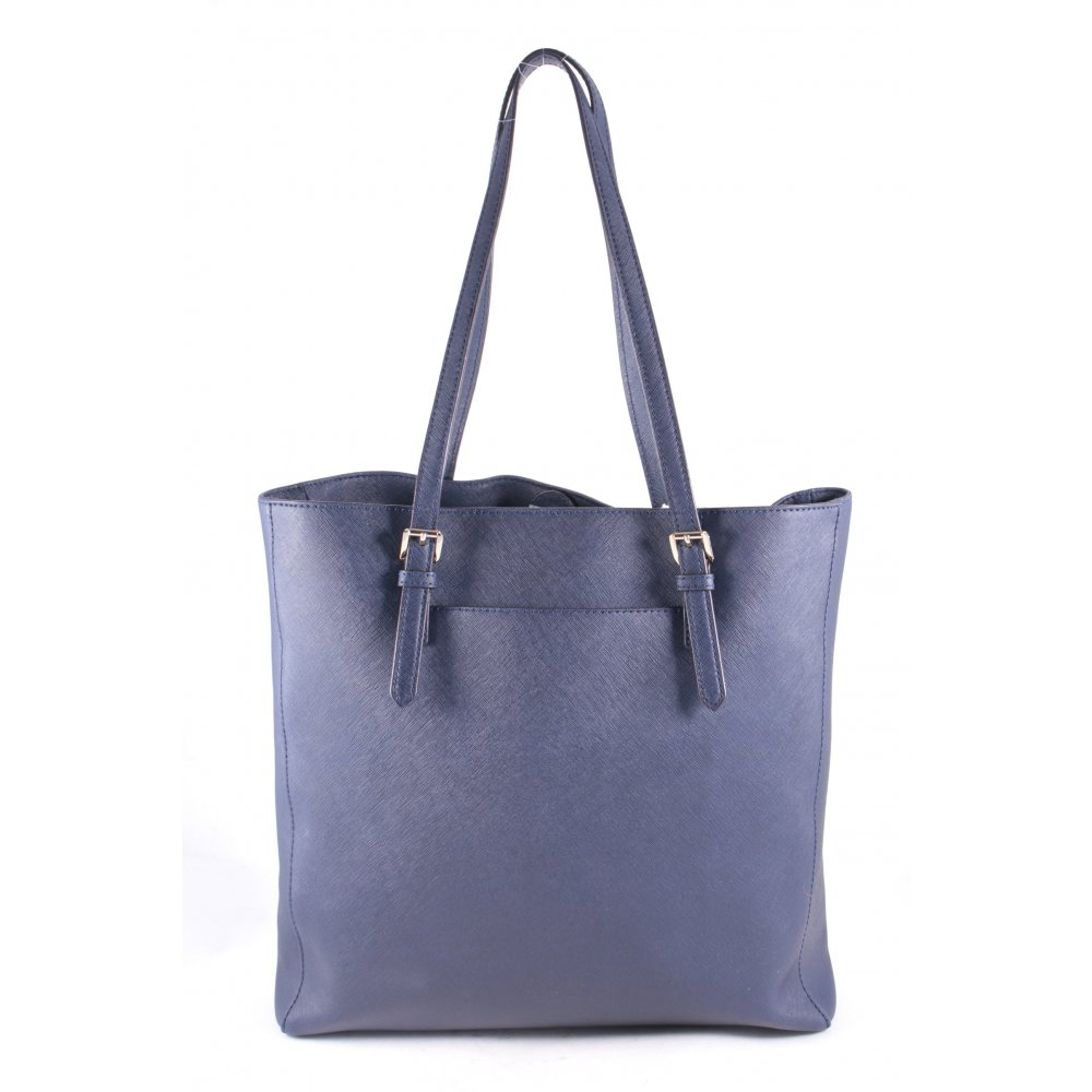 details about michael kors shopper dark blue casual look women s bag. Black Bedroom Furniture Sets. Home Design Ideas