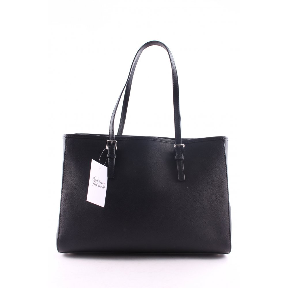 michael kors shopper jet set travel lg ew tote black women s bag ebay. Black Bedroom Furniture Sets. Home Design Ideas
