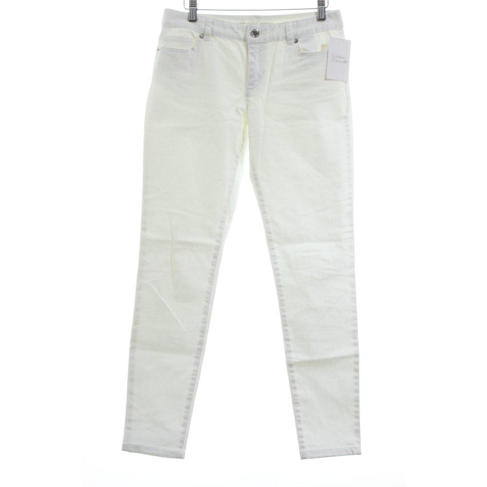 michael kors skinny jeans wei segel look damen gr de 34 wei ebay. Black Bedroom Furniture Sets. Home Design Ideas