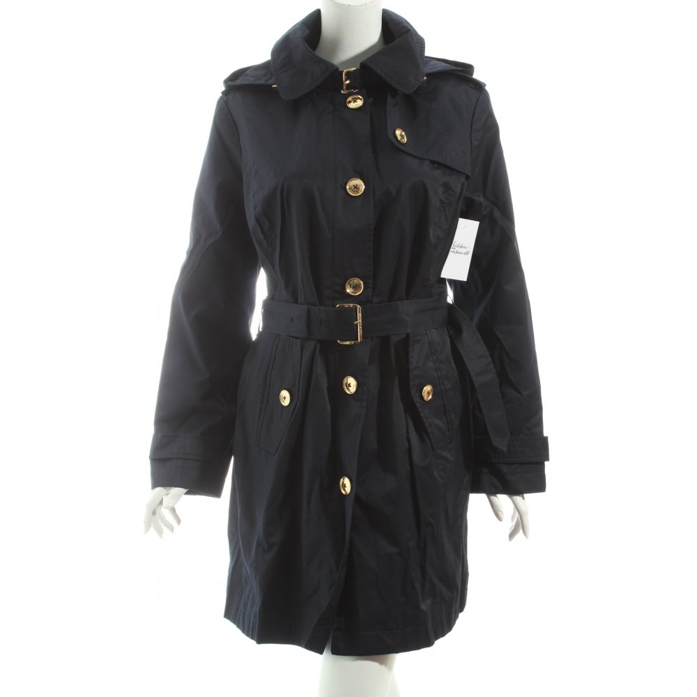 michael kors trenchcoat dunkelblau business look damen gr de 40 mantel coat ebay. Black Bedroom Furniture Sets. Home Design Ideas