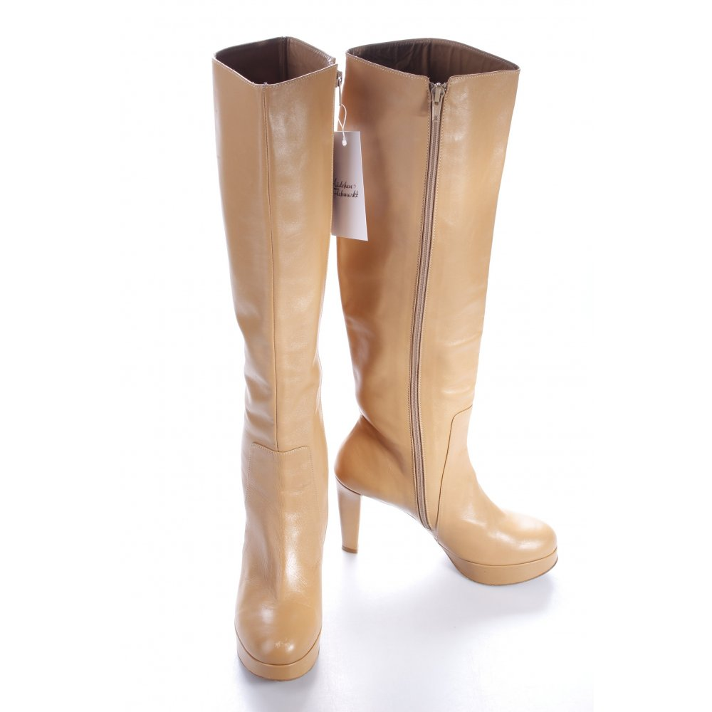 michalsky high heel stiefel beige damen gr de 39 high boots high heel boots ebay. Black Bedroom Furniture Sets. Home Design Ideas