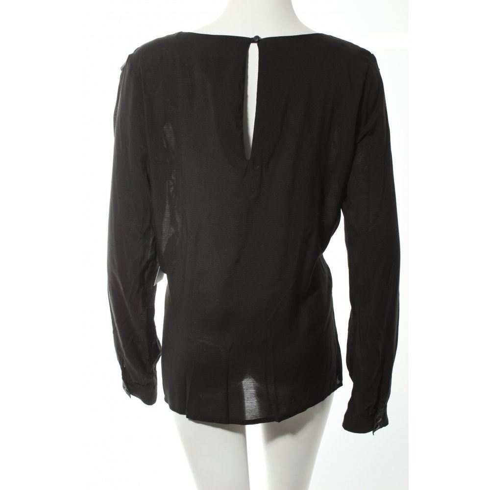 minimum langarm bluse schwarz eleganz look damen gr de 40 blouse ebay. Black Bedroom Furniture Sets. Home Design Ideas