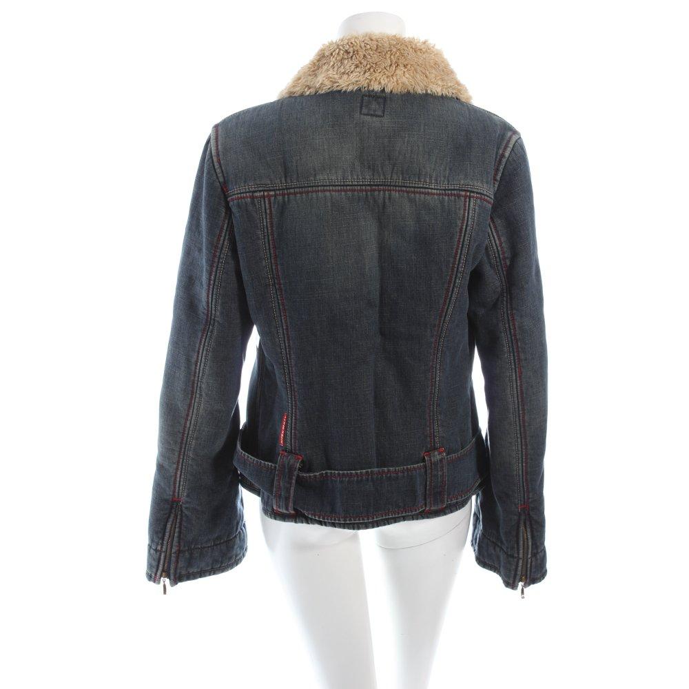 miss sixty jacke graublau beige jeans optik damen gr de 38 baumwolle jacket. Black Bedroom Furniture Sets. Home Design Ideas