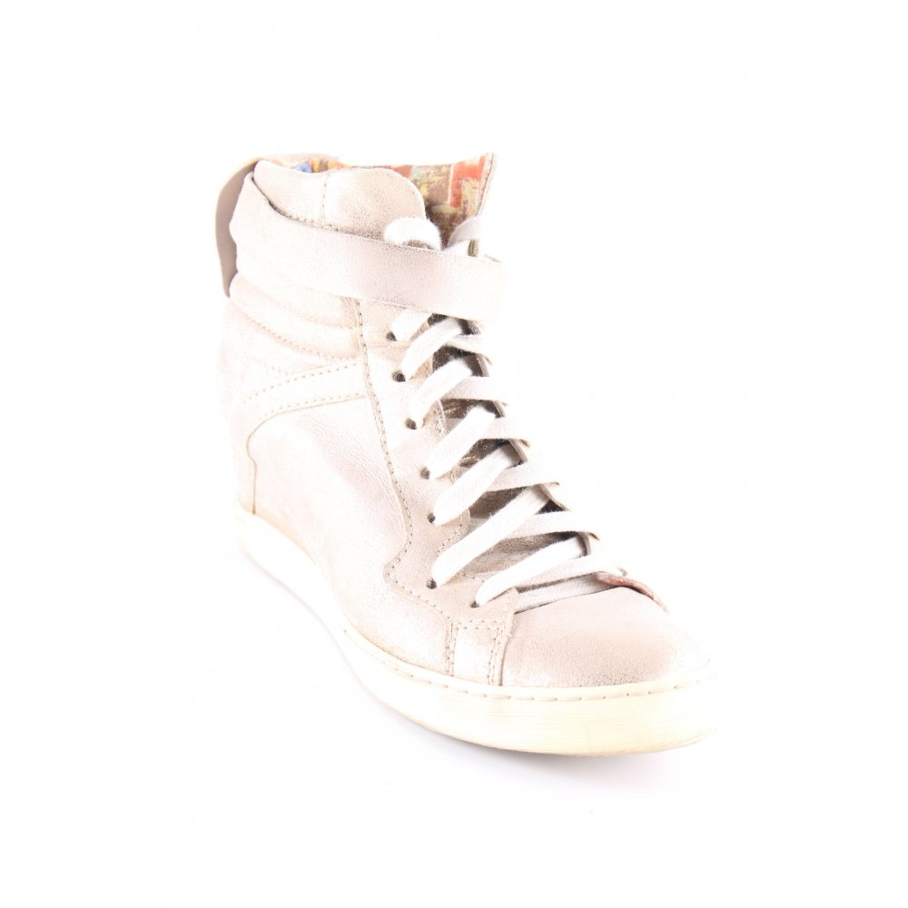 detailed look 626da 33f34 Details zu MJUS Wedge Sneaker goldfarben-hellbeige Metallic-Optik Damen Gr.  DE 39 Sneakers
