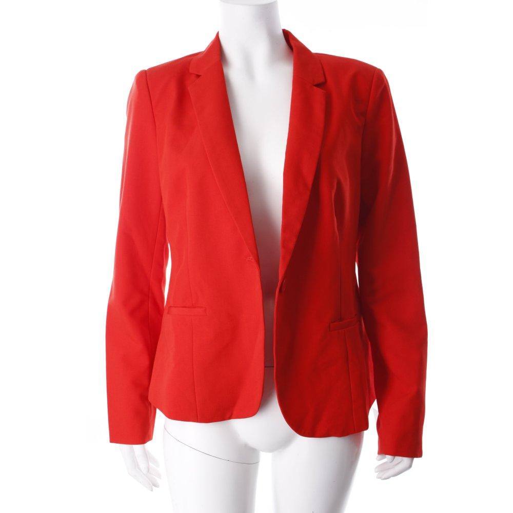 modstr m kurz blazer rot extravaganter stil damen gr de 38 short blazer ebay. Black Bedroom Furniture Sets. Home Design Ideas