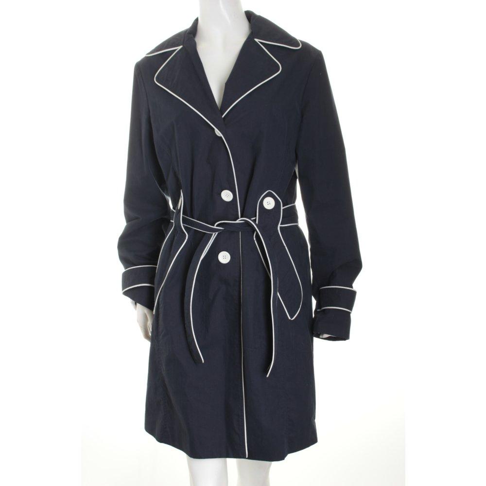 more more trenchcoat dunkelblau wei marine look damen gr de 40 mantel coat ebay. Black Bedroom Furniture Sets. Home Design Ideas