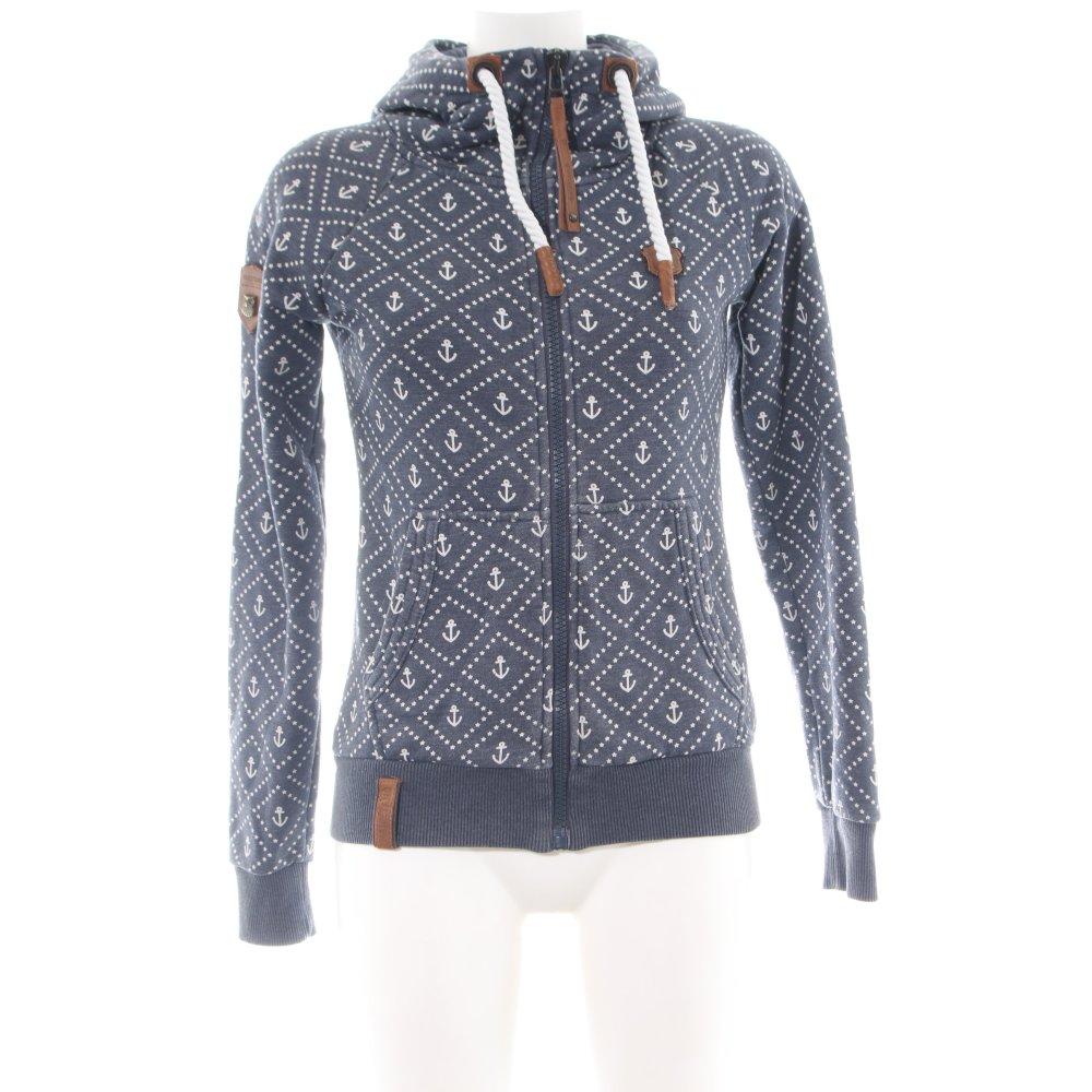 Détails sur Naketano Sweatjacke Bleu Abstrait Motif Sportives Style Femmes Taille FR 34 afficher le titre d'origine