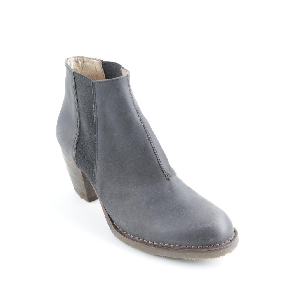 NEOSENS Botines Chelsea gris oscuro-negro estilo sencillo Mujeres Talla EU 42