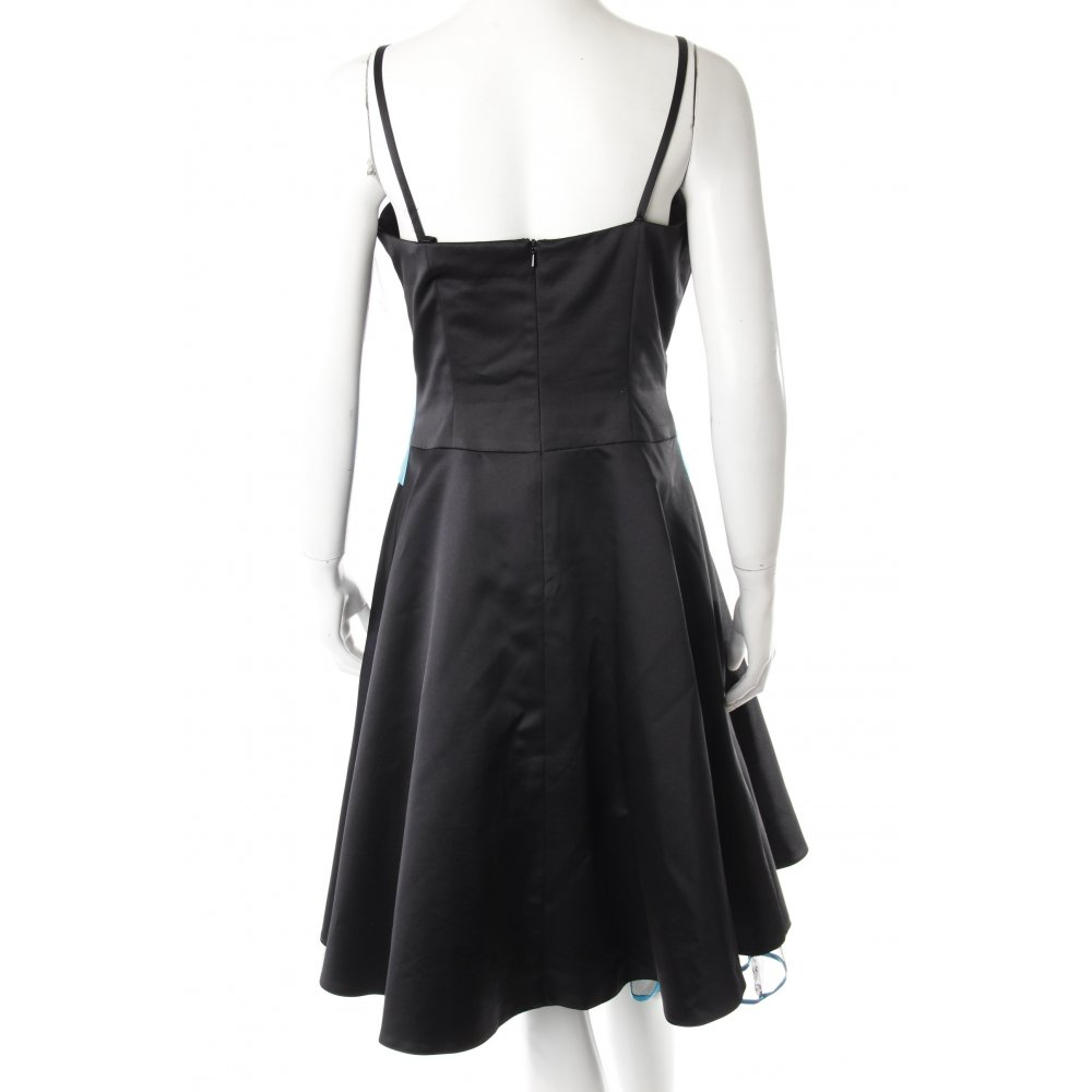 niente abendkleid t rkis schwarz glanz optik damen gr de 38 kleid dress ebay. Black Bedroom Furniture Sets. Home Design Ideas