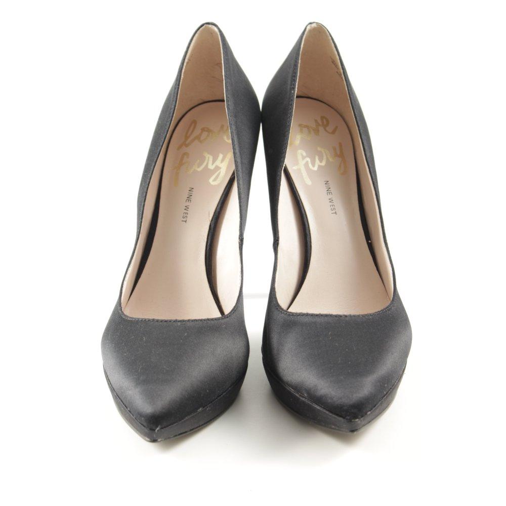 Details zu NINE WEST High Heels schwarz Elegant Damen Gr. DE 40 Pumps Damenschuhe