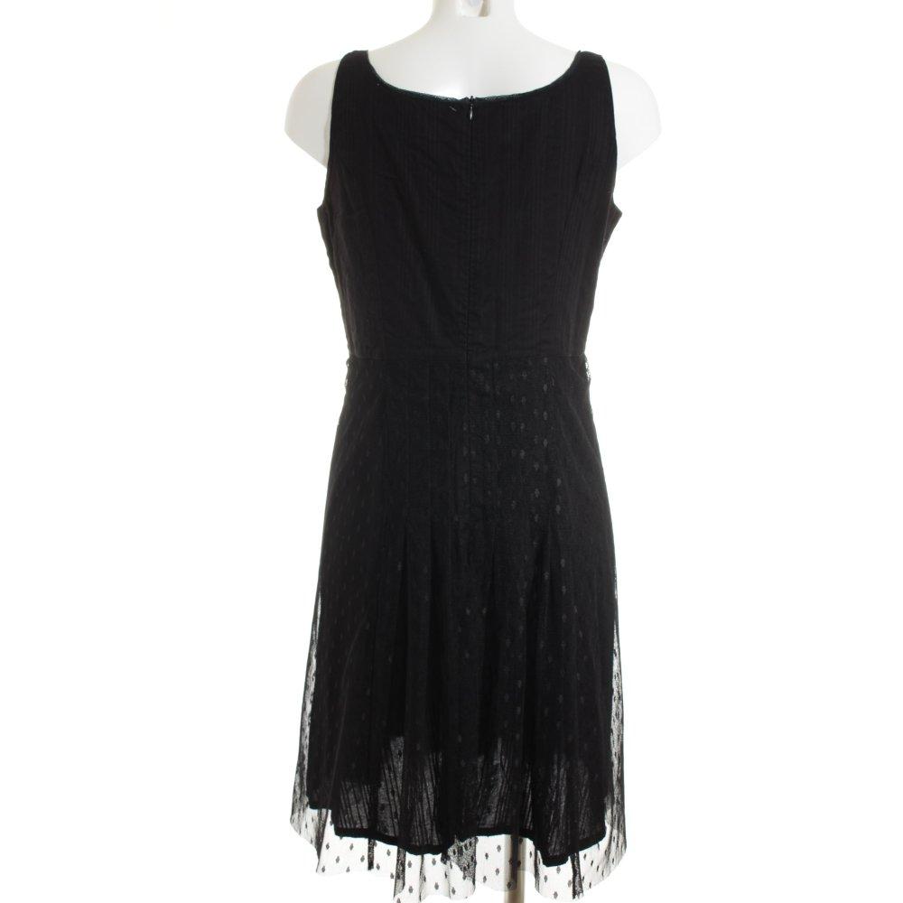 noa noa a linien kleid schwarz punktemuster elegant damen gr de 40 dress. Black Bedroom Furniture Sets. Home Design Ideas