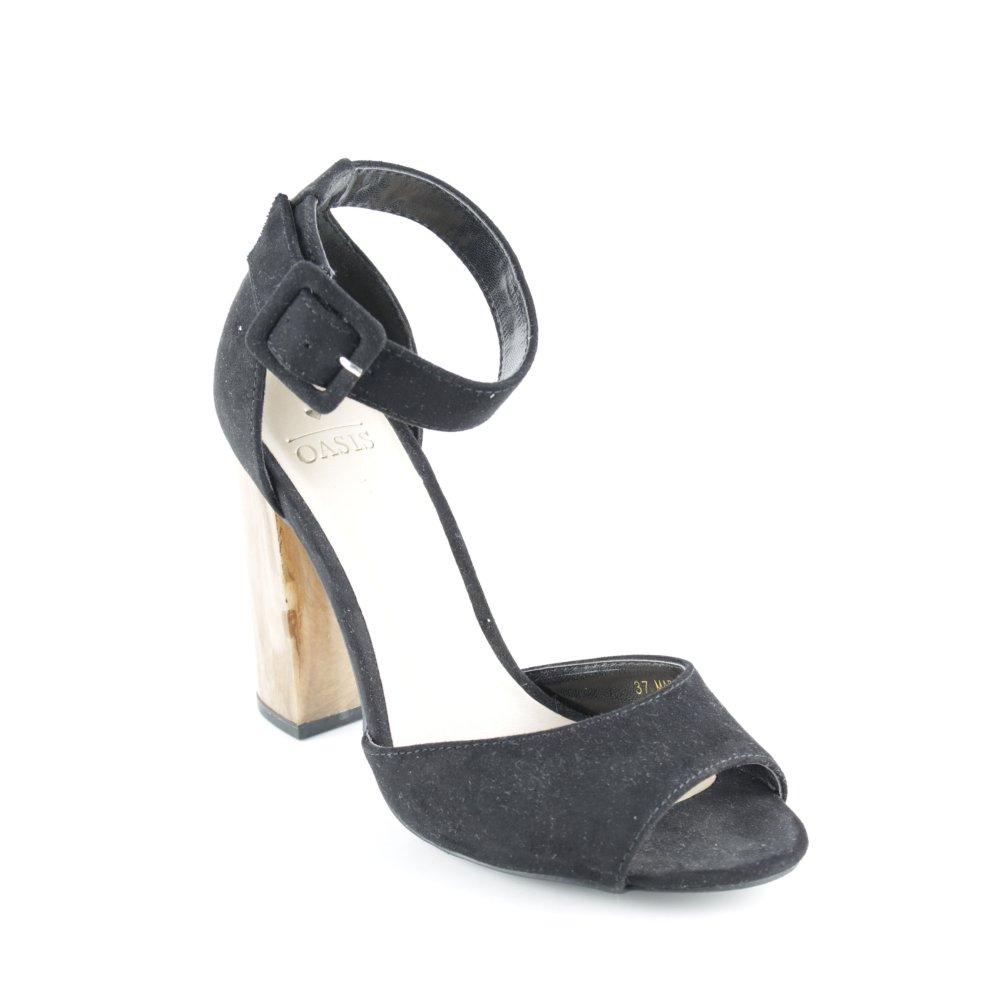 OASIS Sandaletto con tacco alto nero Elementi della fibbia Donna Taglia IT 37