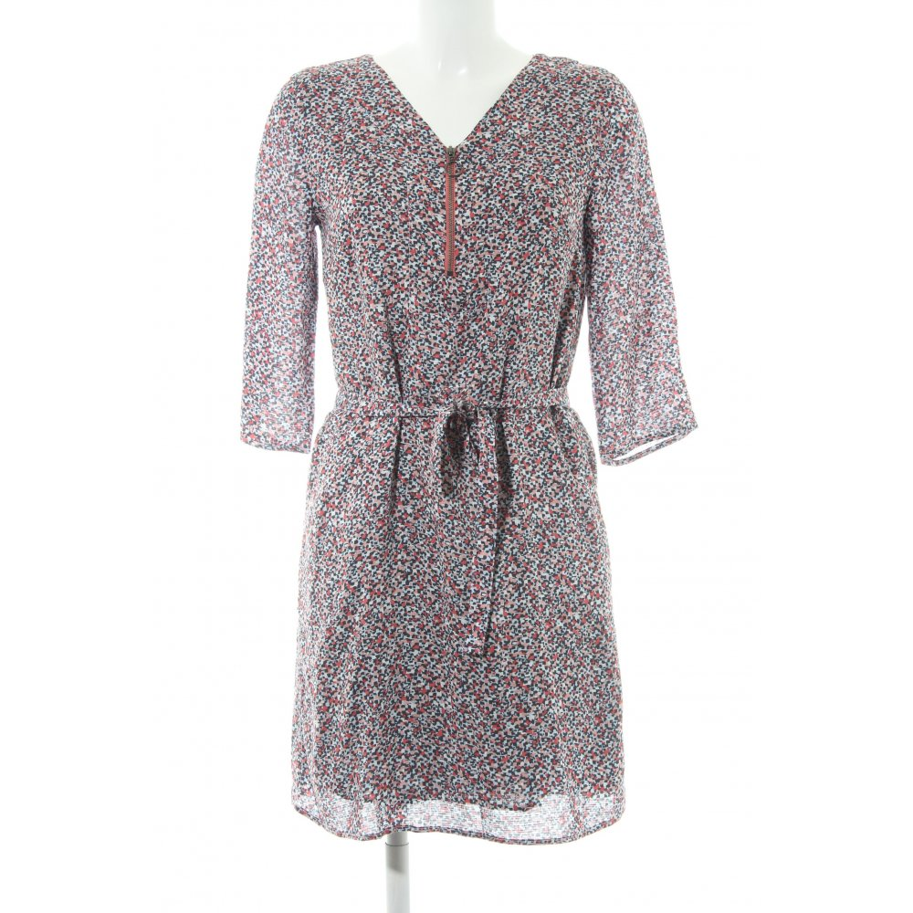 Longhemd Object Kleid mittelblau-gestreift Longbluse 100/% Baumwolle