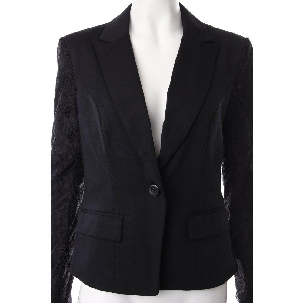 only blazer schwarz spitzenbesatz damen gr de 40 ebay. Black Bedroom Furniture Sets. Home Design Ideas