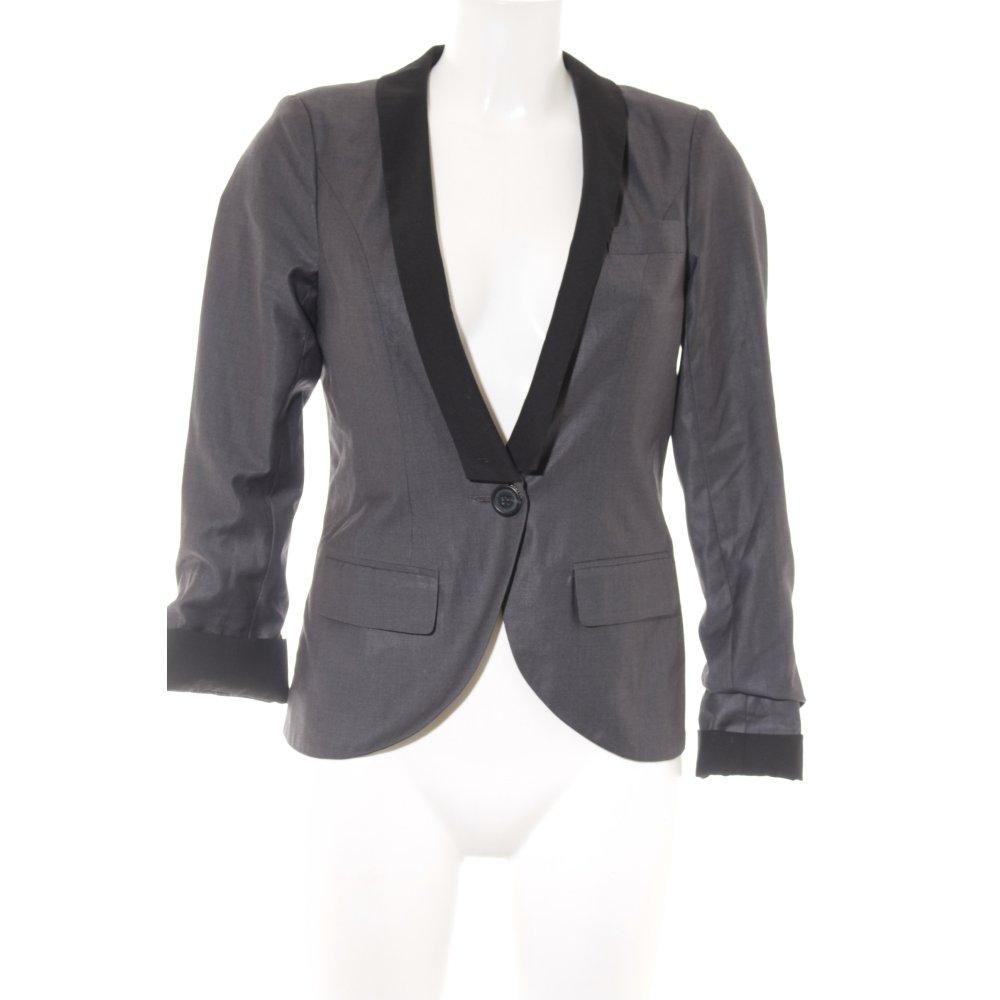 half off 2d729 b9d2e Dettagli su ONLY Blazer corto nero-grigio elegante Donna Taglia IT 38