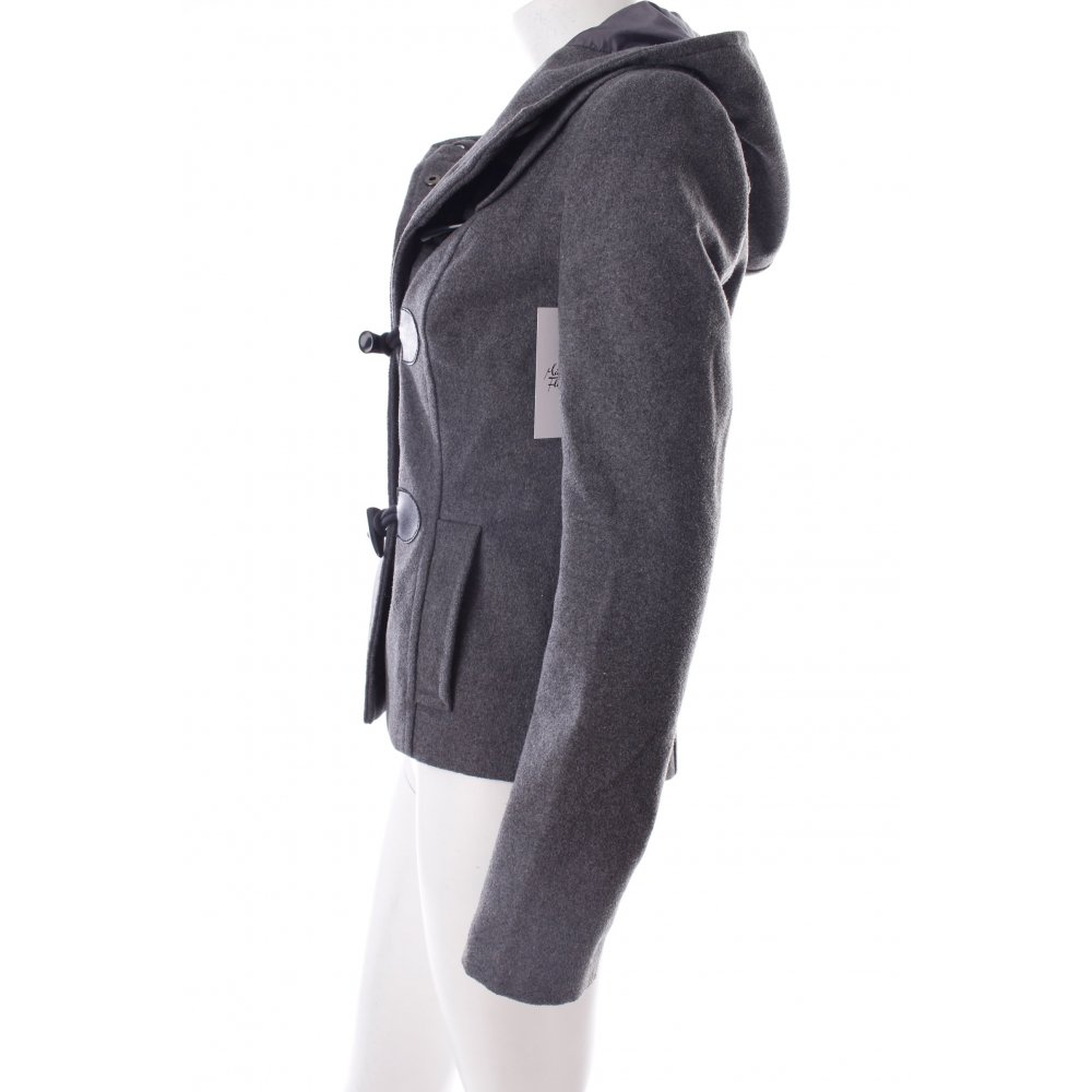 only wolljacke grau meliert klassischer stil damen gr de 34 jacke jacket ebay. Black Bedroom Furniture Sets. Home Design Ideas