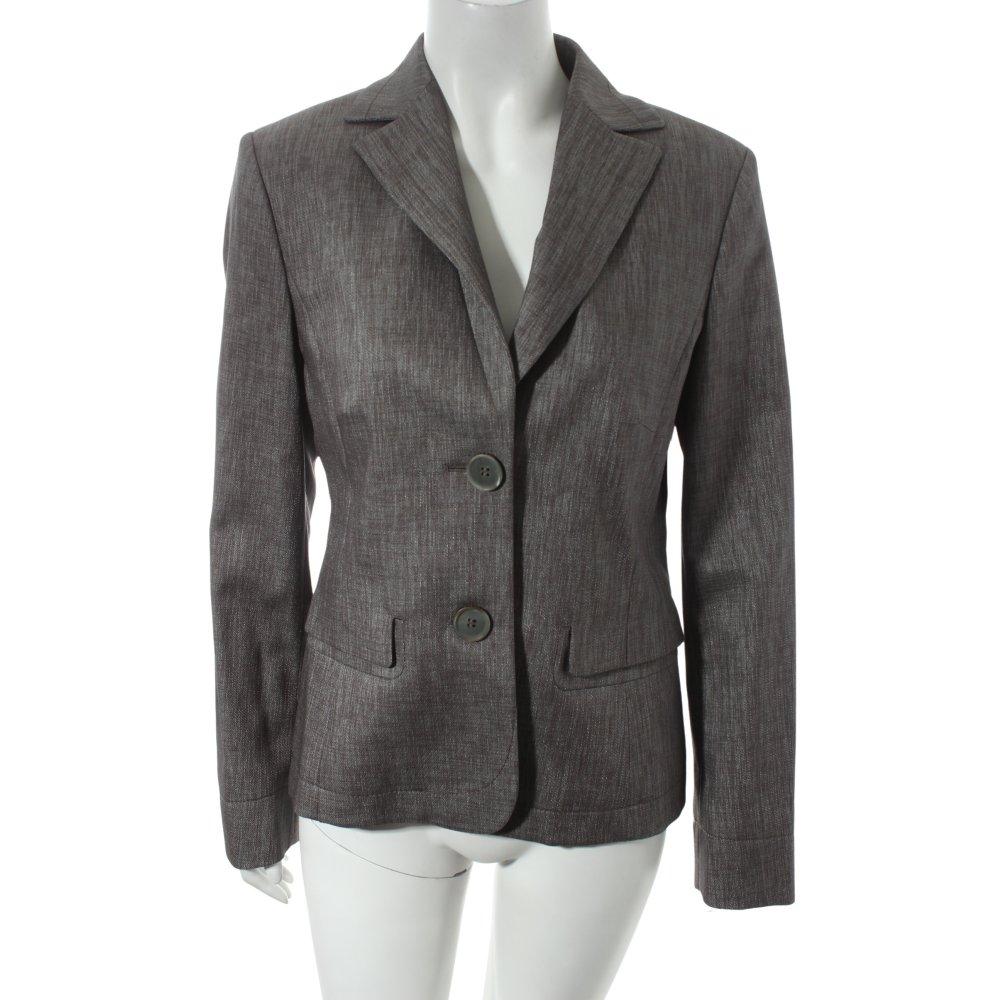 orwell blazer grau meliert glanz optik damen gr de 38 ebay. Black Bedroom Furniture Sets. Home Design Ideas