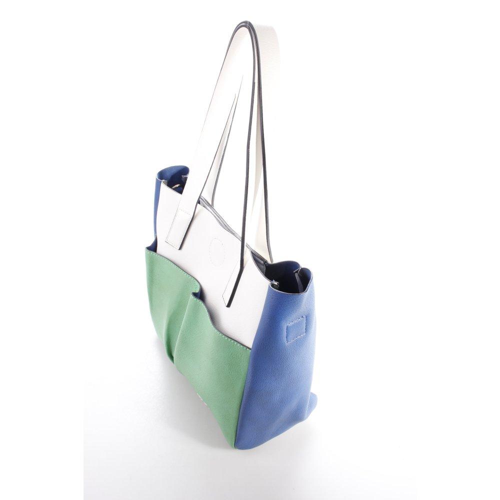 otto kern handtasche blau damen tasche bag handbag ebay. Black Bedroom Furniture Sets. Home Design Ideas