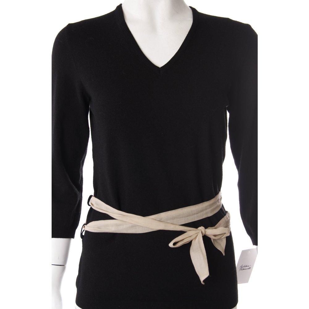 parronchi cashmere pullover schwarz damen gr de 36 sweater v neck sweater ebay. Black Bedroom Furniture Sets. Home Design Ideas
