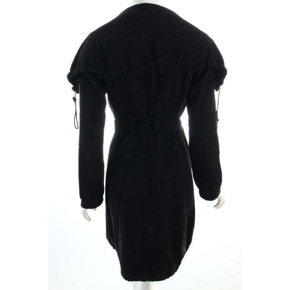 patrizia pepe winter coat black classic style women s size. Black Bedroom Furniture Sets. Home Design Ideas