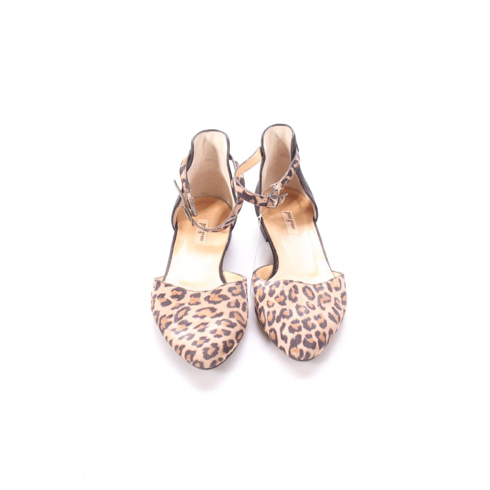 PAUL GREEN Slingback Ballerinas black-beige leopard ...
