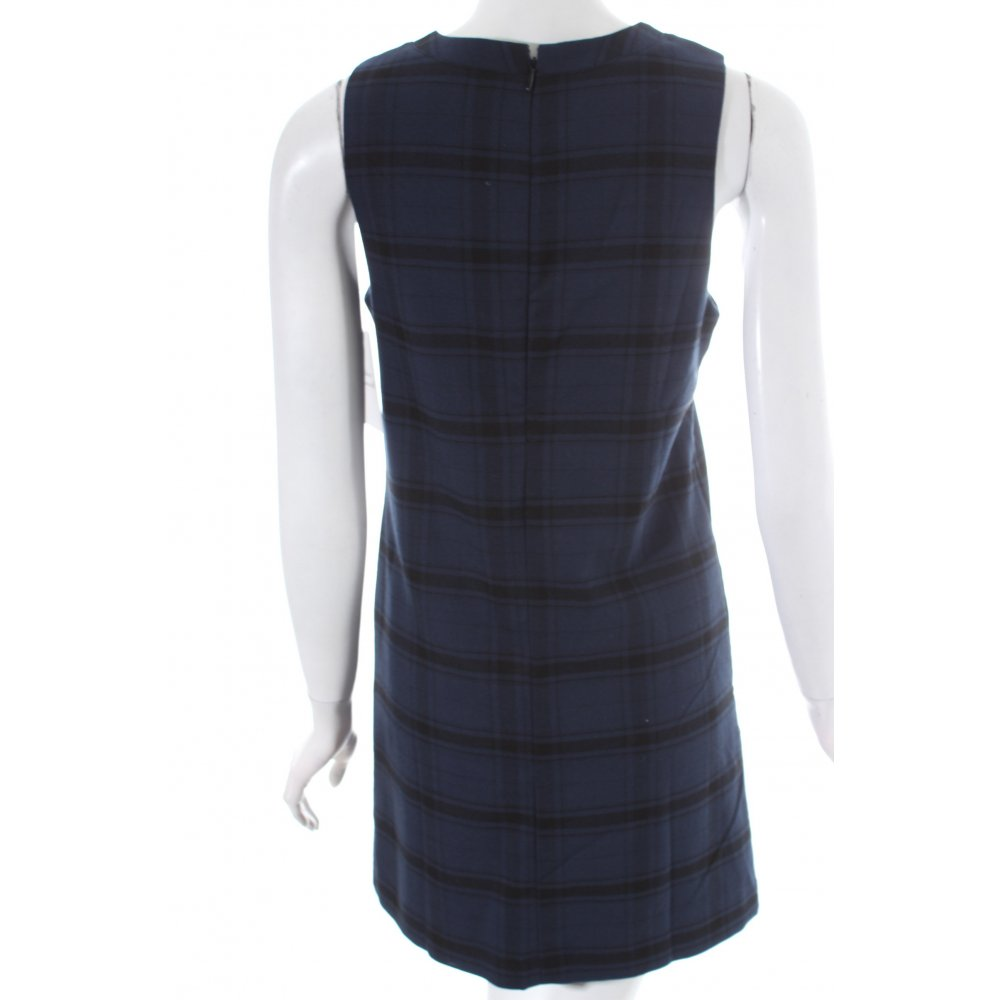 pepe jeans sheath dress blue black check pattern casual. Black Bedroom Furniture Sets. Home Design Ideas