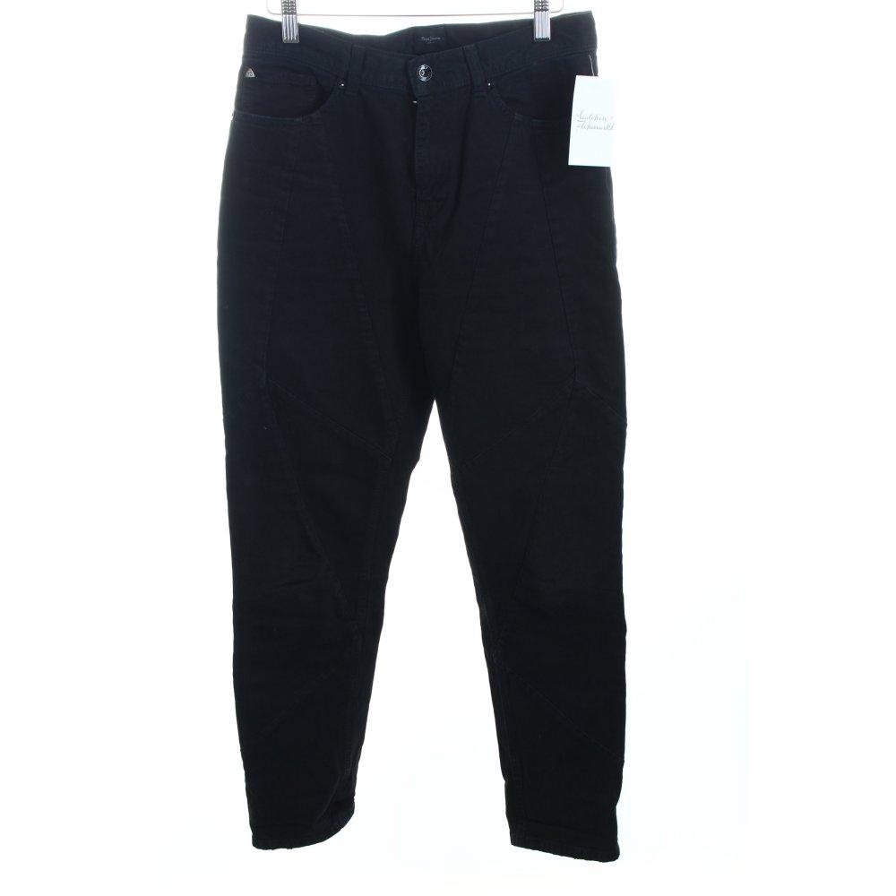 pepe jeans high waist jeans schwarz casual look damen gr. Black Bedroom Furniture Sets. Home Design Ideas