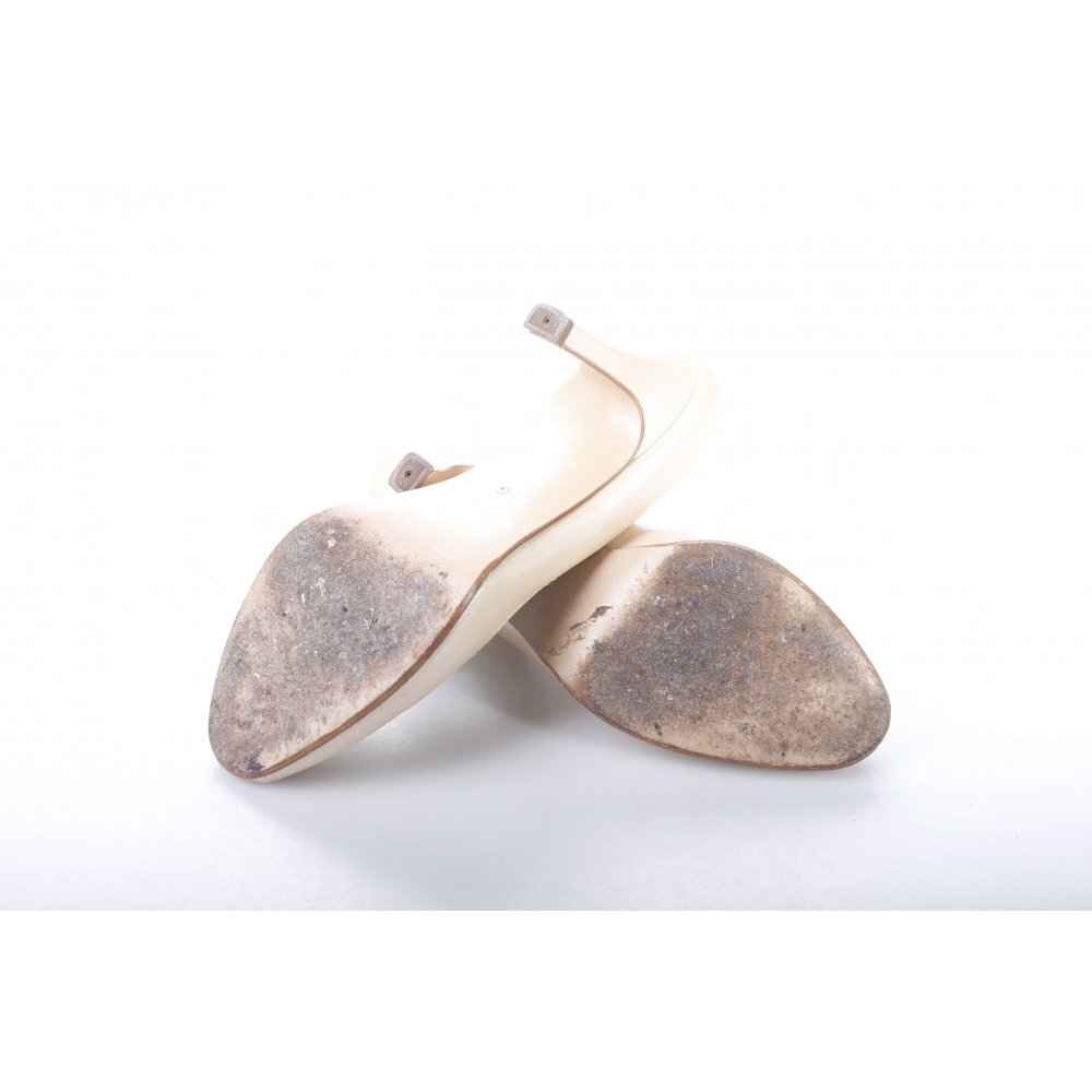 peter kaiser peep toe pumps oatmeal elegant women s size. Black Bedroom Furniture Sets. Home Design Ideas