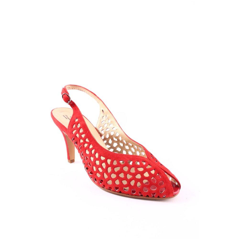 peter kaiser peep toe pumps red elegant women s size uk 4. Black Bedroom Furniture Sets. Home Design Ideas