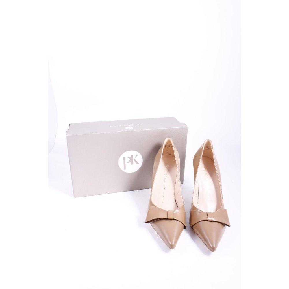 peter kaiser pointed toe pumps beige elegant women s size. Black Bedroom Furniture Sets. Home Design Ideas