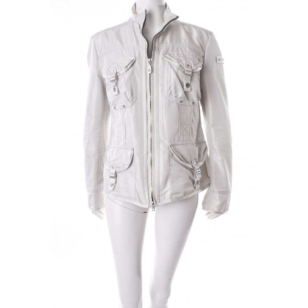 peuterey outdoorjacke hellbeige glanz optik damen gr de 40 jacke jacket ebay. Black Bedroom Furniture Sets. Home Design Ideas