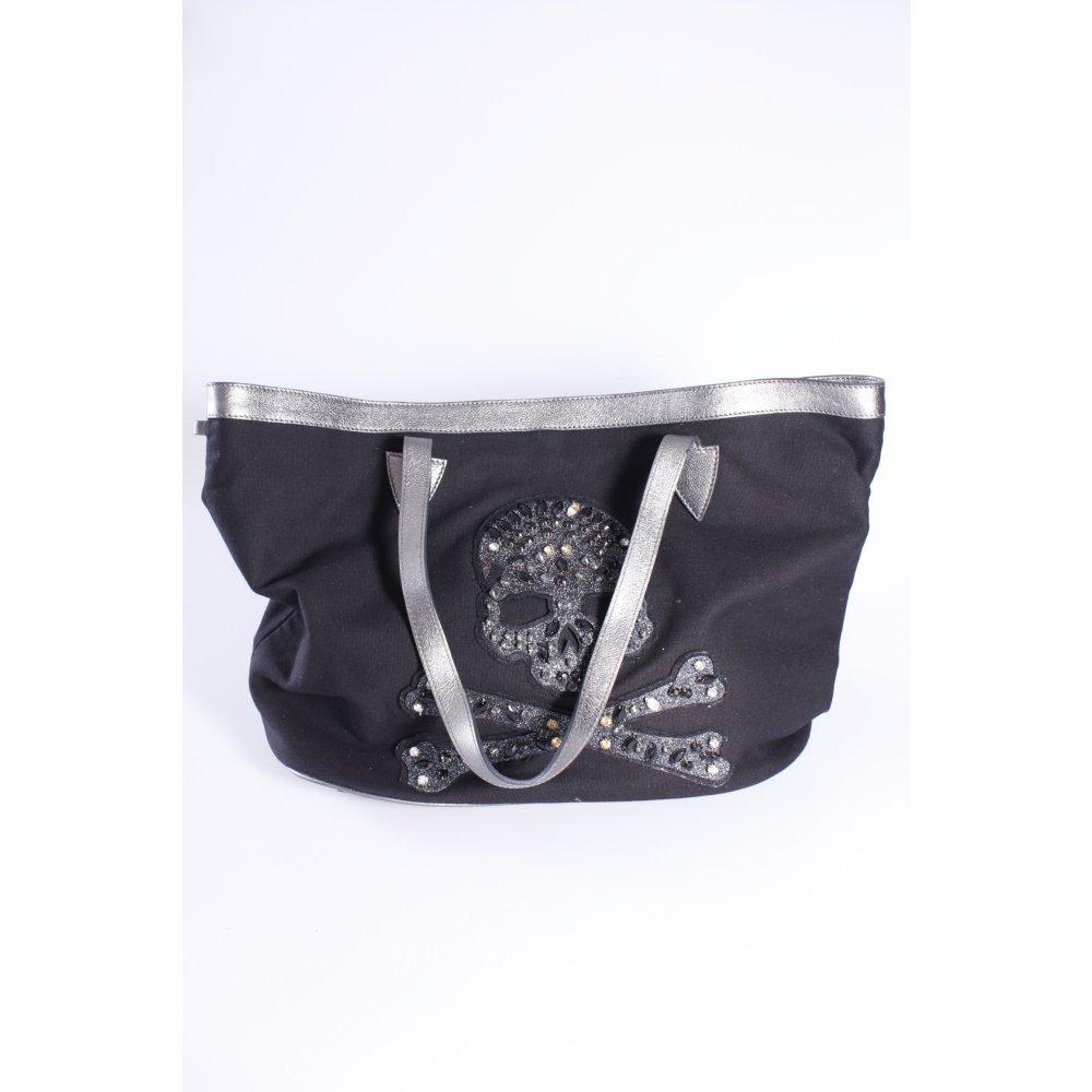 philipp plein tote candy skull schwarz damen tasche bag ebay. Black Bedroom Furniture Sets. Home Design Ideas