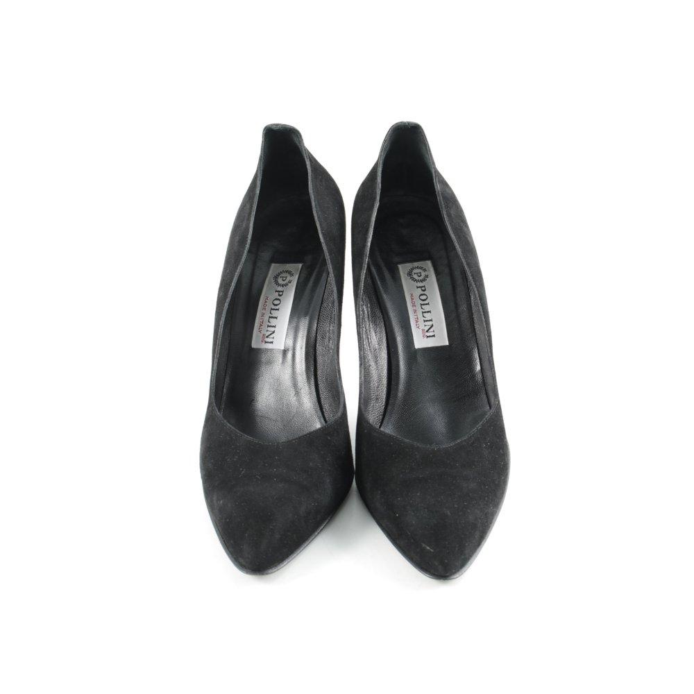 Estilo Eu Mujeres Tacones Punta Detalles «business» 41 De Pollini Negro Talla Zapatos b76yfvYg