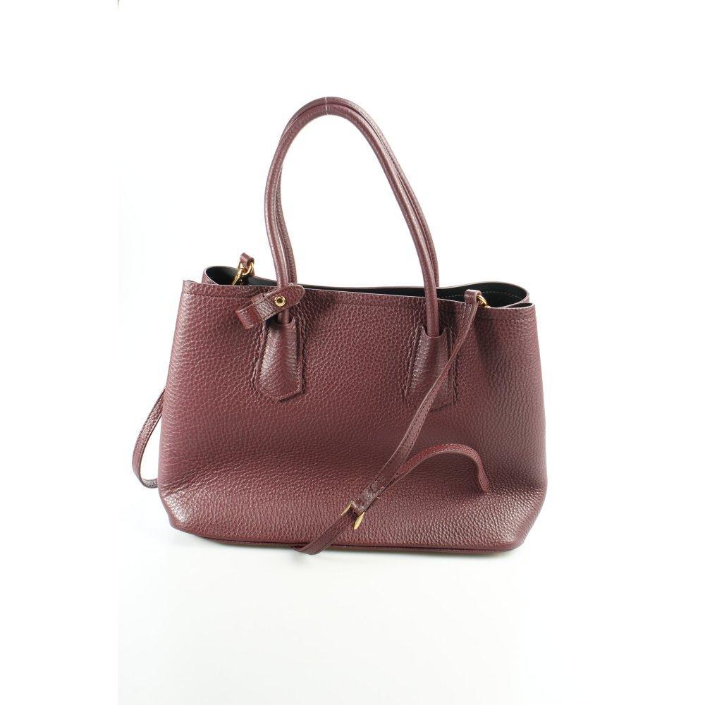 prada handtasche bordeauxrot business look damen tasche. Black Bedroom Furniture Sets. Home Design Ideas