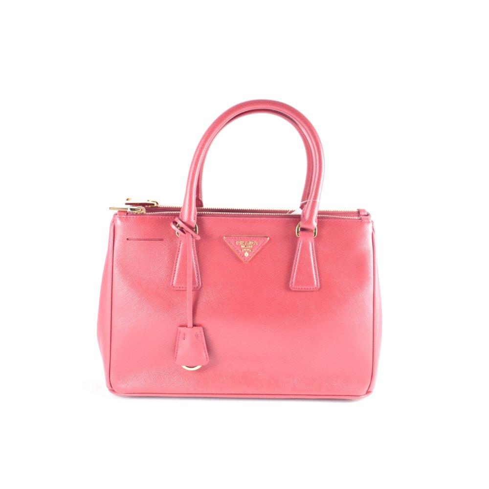 prada handtasche rot eleganz look damen tasche bag leder. Black Bedroom Furniture Sets. Home Design Ideas