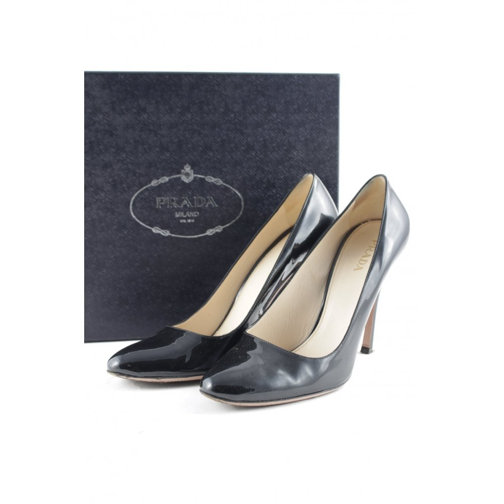 prada high heels schwarz business look damen gr de 41 pumps damenschuhe ebay. Black Bedroom Furniture Sets. Home Design Ideas